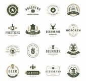 Set Beer Logos, Badges and Labels Vintage Style — Stock Vector