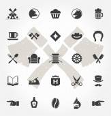 Retro Hand Drawn Objects and Icons — Stock Vector