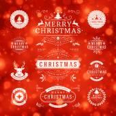 Christmas Decorations Vector Design Elements — Stock Vector