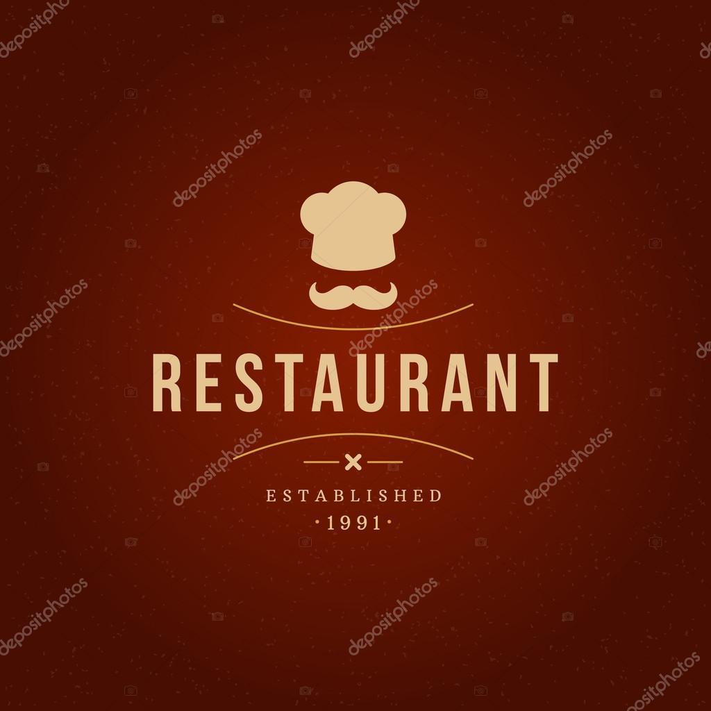 restaurant design element in vintage style for logotype — stock