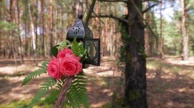 Floristry bouquet — Stock Video