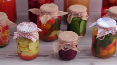 Tasty canned food — Stock Video