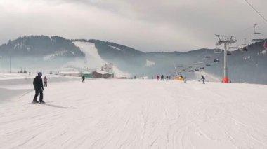Ski Resort. — Vídeo de Stock