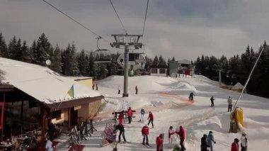 Ski resort in Ukraine. — Vídeo de Stock