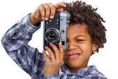 Enthusiastic photographer — Stock Photo