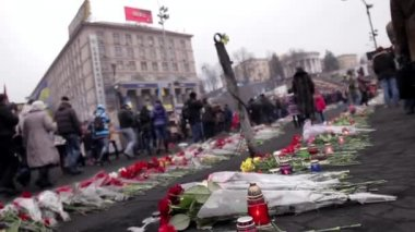 Ukraine in mourning. — Stock Video