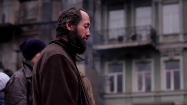 Burnt City Kiev during the uprising. — Stock Video