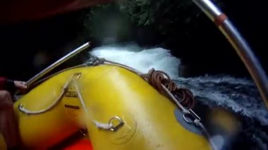 Rafting on the Kaituna River with GoPro. New Zealand — Stock Video