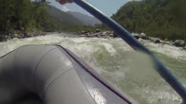 Rafting on the Bhote-Koshi river, Nepal — Stock Video
