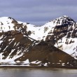 The end of a glacier where it falls into the Arctic Ocean in Spitsbergen, Svalbard, Norway. — Stock Photo #72425999