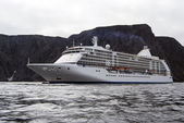 Cruise ship passenger passing North Cape, Norway. — Stock Photo