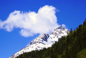 A White Mountain on the Road to Skagway Alaska — Stock Photo