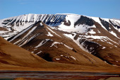 Mountains in Spitsbergen, Svalbard, Norway. — Stockfoto
