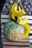 Zapallo -- Pumpkin or Squash cutted in a peruvian market — Stock Photo