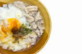 Noodle Soup with Pork and Egg — Stock Photo