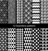 Set geometric seamless patterns — Stock Vector