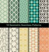 Set seamless pattern retro — Stock Vector