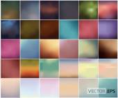 Big Set Of Soft Colored Abstract Background .vector illustration — Stock Vector