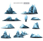 Mountain polygonal set background. vector illustration — Stockvektor