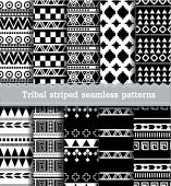 Tribal striped seamless patterns.vector — Stock Vector