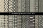Geometric Seamless Patterns.vector — Stock Vector