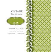 Vintage background, thai design. thai pattern vector — Stock Vector