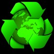 Earth with recycle signs, Arrow around the eco globe. — Stock Photo #61618111
