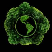 Ecology planet with with trees around. eco earth — Stock Photo