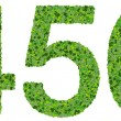 4 5 6 digits, numbers made from green leaves isolated on white background. — Stock Photo #66133959