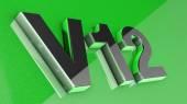 V12 sign, label, badge, emblem or design element on car print — Stock Photo