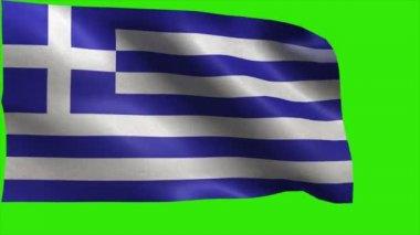 Hellenic Republic, Flag of Greece, Greek Flag - LOOP — Stock Video