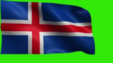 Republic of Iceland, Flag of Iceland - LOOP — Stock Video