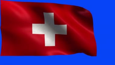 Swiss Confederation, Flag of Switzerland, The Swiss flag - LOOP — Stock Video