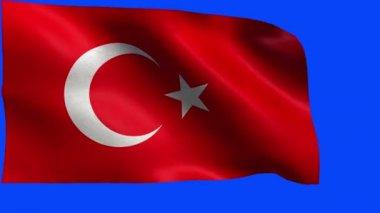 Republic of Turkey, Flag of Turkey, Turkish Flag - LOOP — Stock Video