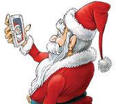 Santa selfie, isolated-2 — Foto de Stock