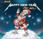 Metallica santa claus — Стоковое фото