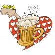 Heartbreaker beer house illustration — Stock Photo #59357607