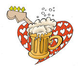 Heartbreaker beer house illustration — Stock Photo