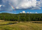 Rainbow over the Gibbon River — Stockfoto