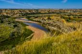 The Little Missouri River Valley — Stock Photo