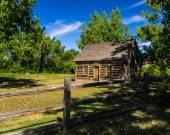 Cabin of Theodore Roosevelt's Maltese Cross Ranch — Stock Photo