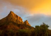 The Watchman at Sunset — Stock Photo