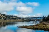 The Rogue River Bridge at Gold Beach, Oregon — Stock Photo