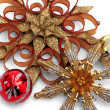Red and gold ornament display — Stock Photo #58834371