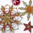 Red and gold ornament display — Stock Photo #58834387