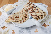 Lefse served on a plate — Stock Photo