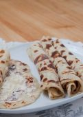 Rolled lefse - close up — Stock Photo