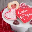 Assortment of Valentine Cookies — Stock Photo #63082911