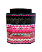 Beautiful tin jar on a white background — Stock Photo