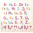 Cute colored alphabet — Stock Vector #57813911